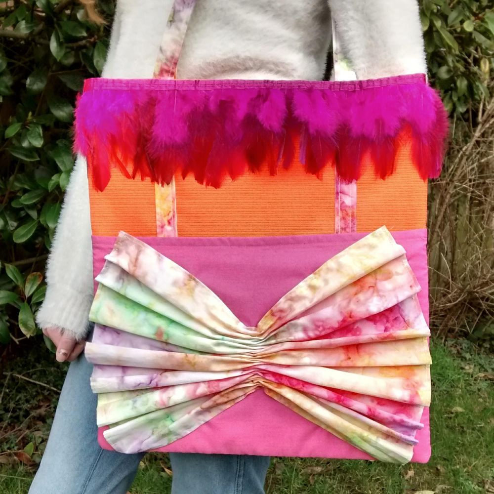 Bright and Colourful Tie-dye Handmade Shoulder Bag Raspberrycatdesigns.co.u