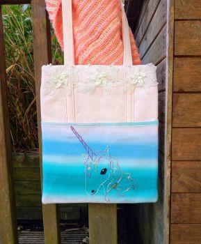 Pretty Magical Unicorn Handmade Shoulder Bag