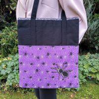 <!--010-->Scary Black Spider Handmade Shoulder Bag