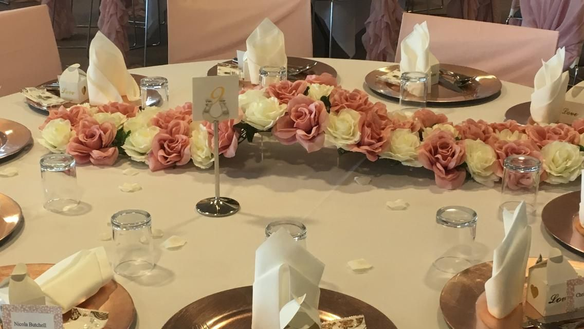 Flower Table/ Aisle Runner