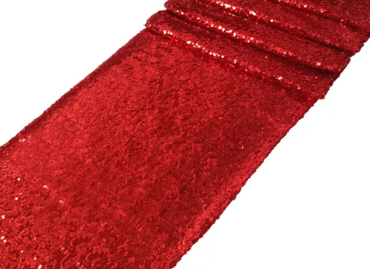Red Sequin Table Cloth