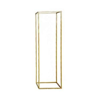 Gold Geometric  Column Stand - 40cm