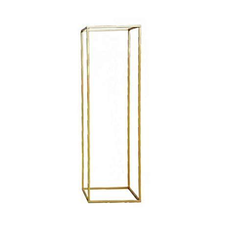 Gold Geometric  Column Stand