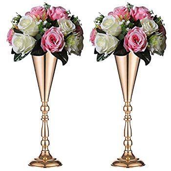 Metal Trumpet Vases
