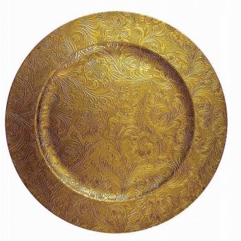 Gold Patterned Charger Plate