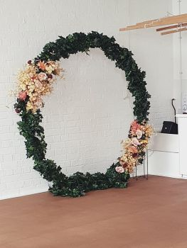 Gold Wedding Arch Frame Moongate