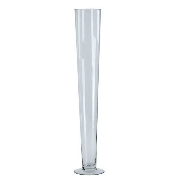 Clear Conical Vase