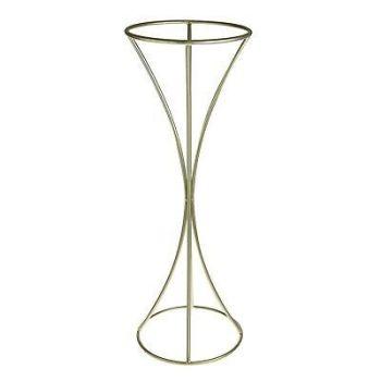 Gold Metal Flower Stand Table Pedestal Trumpet Shape