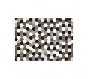 Safira Small Black/White/Grey Patchwork Rug