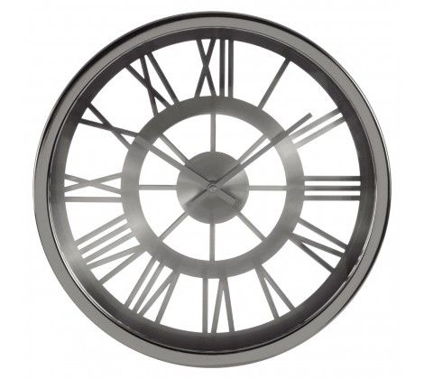 Bailie Chrome Wall Clock