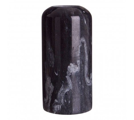 Lamonte Large Black Marble Candle Holder
