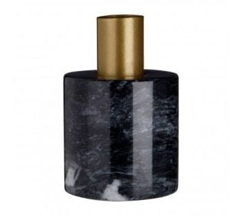 Lamonte Black Marble Candle Holder