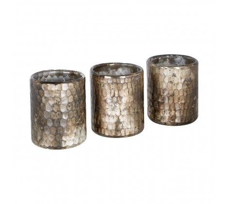 Set of 3 Gaia Votive Candle Holders