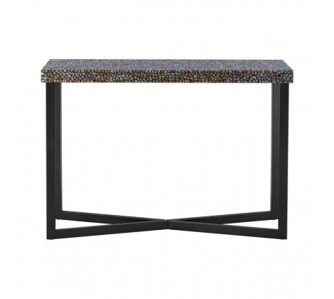 Fusion Crackle Mosaic Console Table