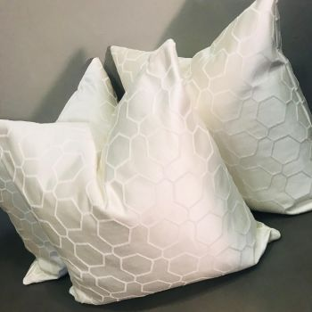 Luxury Handmade Pearl Geo Cushion Small