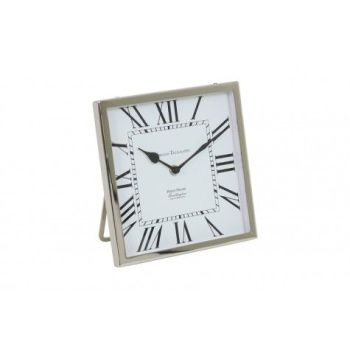 Kelston Antique White Nickel Square Clock