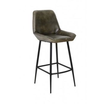 Zuko Leather Bar Chair