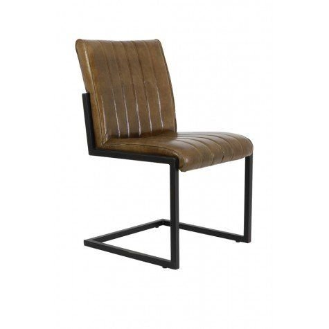 Kobi Antique Brown Leather Dining Chair