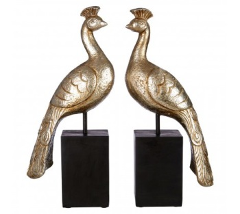 Complements Large Peacock Bookends