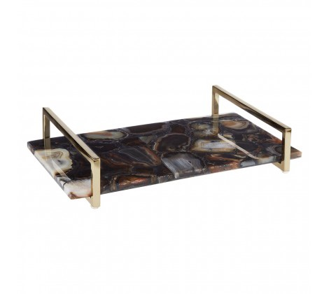 Bowerbird Black Agate Large Tray