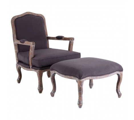 Rocco Grey Chair and Footstool