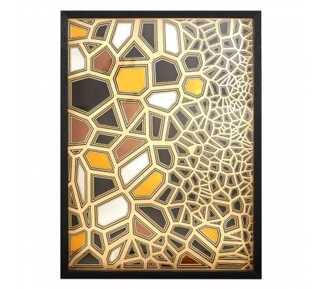 Modello Gold/Black Sculpture Wall Art
