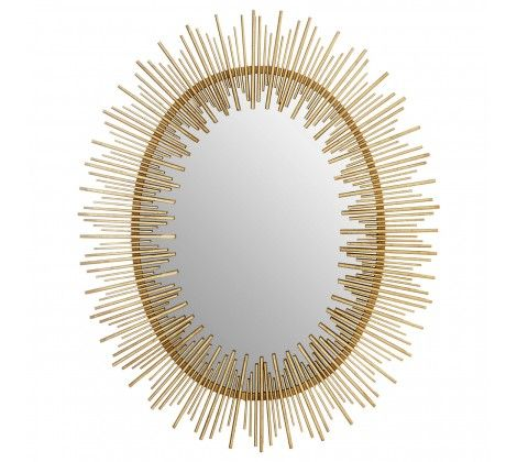 Phalanx Oval Gold Wall Mirror
