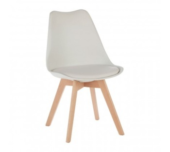 Stockholm White Chair With Cushion