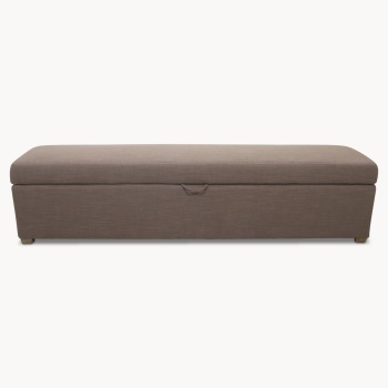 St James Grey Long Ottoman
