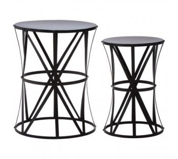 Avantis Lattice Black Iron Tables
