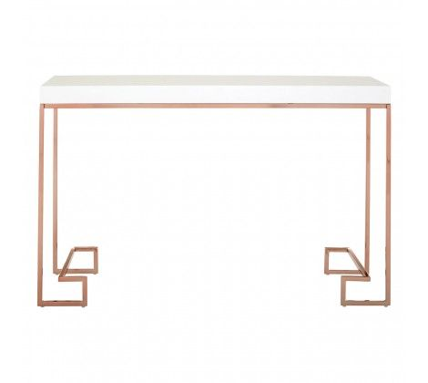 Allure Console Table with Rose Gold Legs