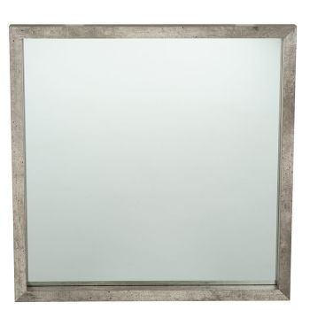 Concrete Effect MDF Square Wall Mirror