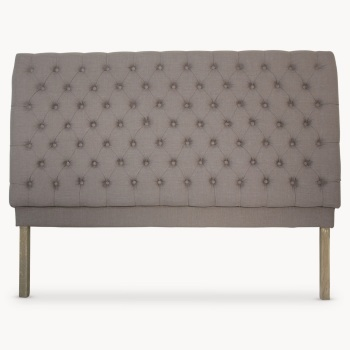 St James Grey Padded Headboard Medium