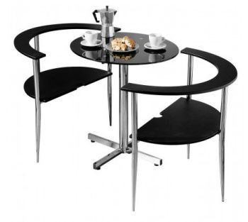 Love Black Dining Set