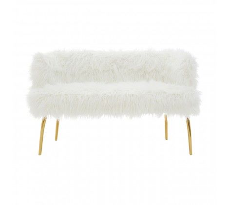 Clarence Natural Fur Effect Sofa