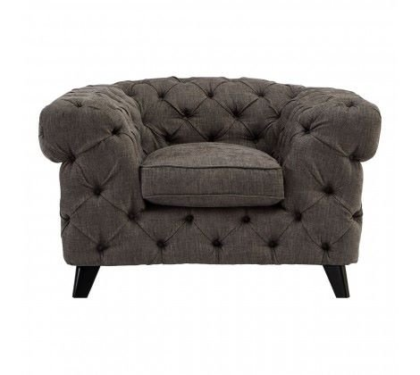 Harrington Grey Fabric Armchair