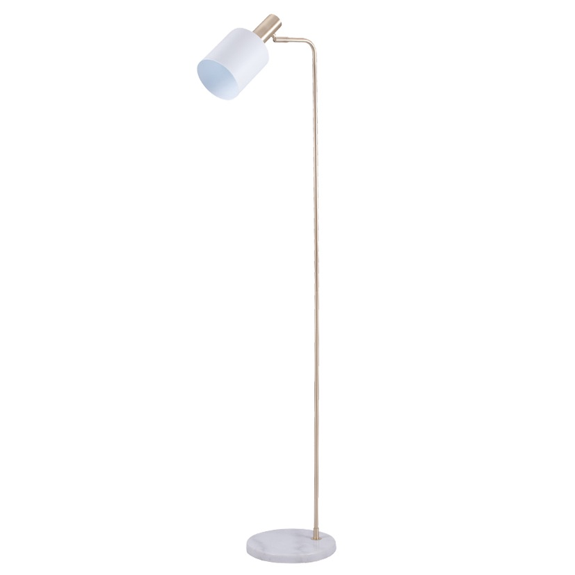Marble Footed White and Gold Retro Floor Lamp