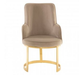 Eliza Beige Velvet Dining Chair