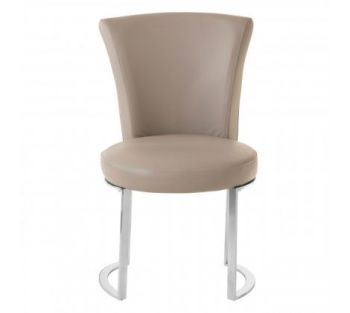 Eliza Grey Faux Leather Dining Chair