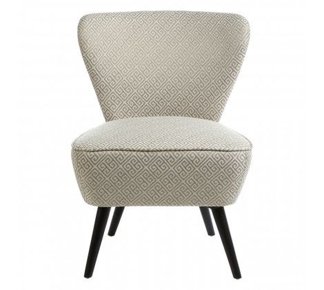 Darcy Grey Jacquard Print Chair