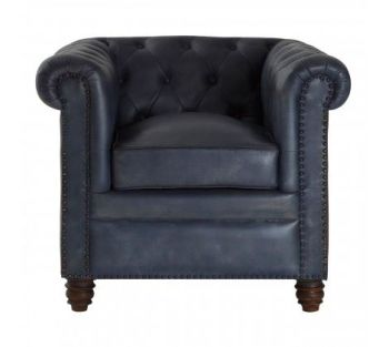 Buffalo Armchair Blue Leather