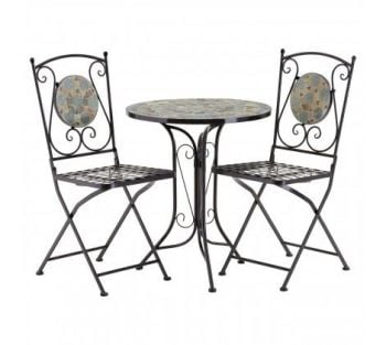 Amalfi Grey/Stone Mosaic Table Set
