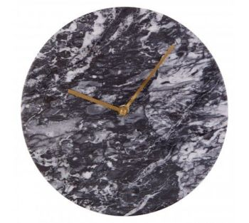 Lamonte Black Marble Wall Clock