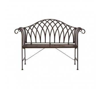 Finchwood Wrought Iron Jardin Bench