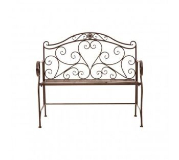 Finchwood Iron Jardin Heart Bench