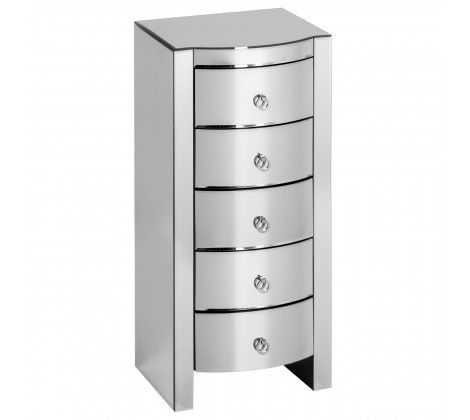 Verona Curved Tall Boy Drawers