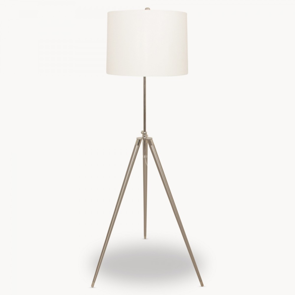 Clifton Standard Metal Task Lamp with Linen Shade OW