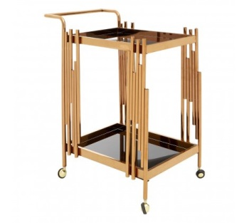 Novo 2 Tier Trolley With Rose Gold Frame