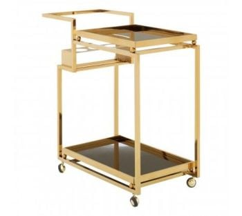 Novo 3 Tier Trolley with Gold Finish Frame