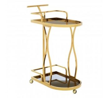 Novo 2 Tier Gold / Wavy Design Trolley